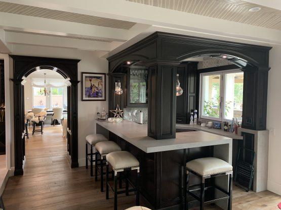 Custom Bar and Entertainment Area Marble Falls Texas